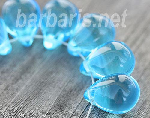 """Бусины """"Голубые капли"""" стекло"""