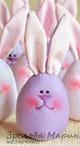 Шьем пасхальных яйцо-зайцев