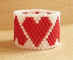 Бисерные сердечки ко Дню Святого Валентина, идеи