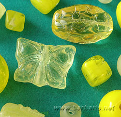 "Preciosa Набор бусин ""Желтый микс"" стекло (фото, вид 1)"