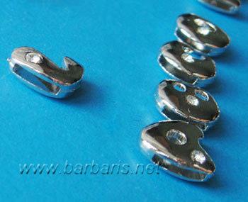 "Бусина металл серебро ""Латинские буквы"" (фото, вид 1)"
