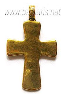 """Подвеска золото """"Крест"""" (фото, вид 1)"""
