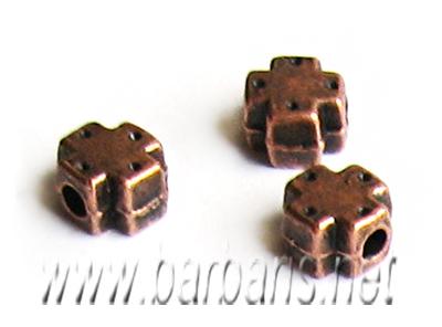 Бусина металл медь (фото, вид 1)