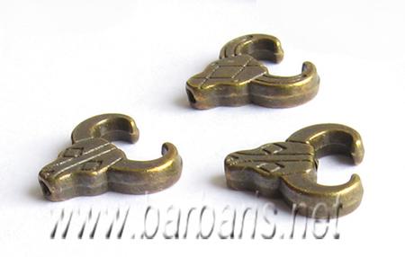 Бусина металл бронза (фото, вид 1)