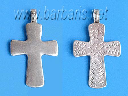 """Подвеска """"Крест"""" серебро (фото, вид 1)"""