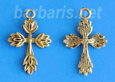 """Подвеска """"Крест"""" золото (фото, вид 1)"""