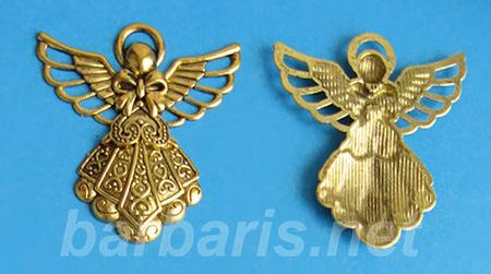"""Подвеска золото """"Ангел"""" (фото, вид 1)"""
