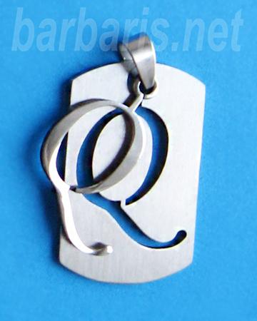 """Подвеска """"Буква Q"""" серебро (фото, вид 1)"""