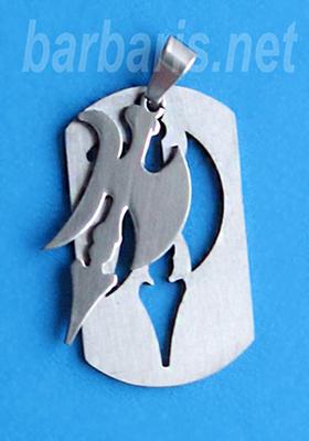 """Подвеска """"Алебарда"""" серебро (фото, вид 1)"""