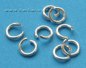 Кольцо для бус серебро (фото, вид 1)