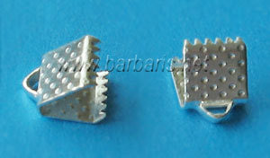 Зажим для ленты серебро (фото, вид 1)
