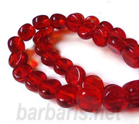"""Preciosa Бусины """"Красные таблетки"""" стекло (фото, вид 1)"""