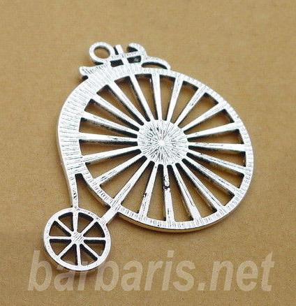 """Подвеска серебро """"Старинный велосипед"""" (фото, вид 1)"""
