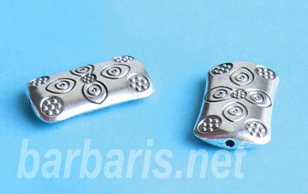 Бусина металл серебро (фото, вид 1)