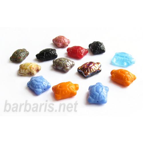 """Preciosa Набор бусин """"Разноцветные черапашки"""" стекло (фото, вид 5)"""