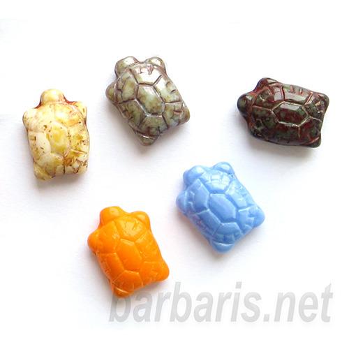 """Preciosa Набор бусин """"Разноцветные черапашки"""" стекло (фото, вид 1)"""