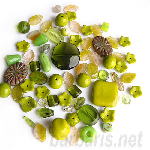 "Preciosa Набор бусин ""Оливковый микс"" стекло (фото, вид 2)"