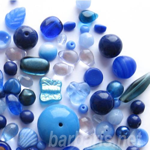 "Preciosa Набор бусин ""Синий микс"" стекло (фото, вид 1)"