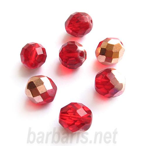 """Preciosa Граненные бусины """"Красные"""" стекло (фото, вид 1)"""