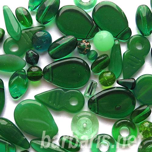 "Preciosa Набор бусин ""Зеленый микс"" стекло (фото, вид 1)"