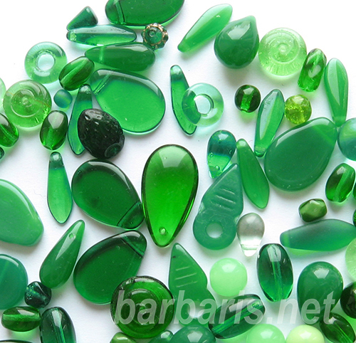 "Preciosa Набор бусин ""Зеленый микс"" стекло (фото, вид 2)"