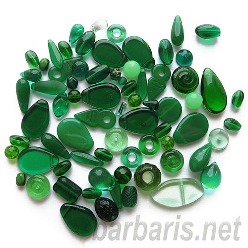 "Preciosa Набор бусин ""Зеленый микс"" стекло (фото, вид 3)"