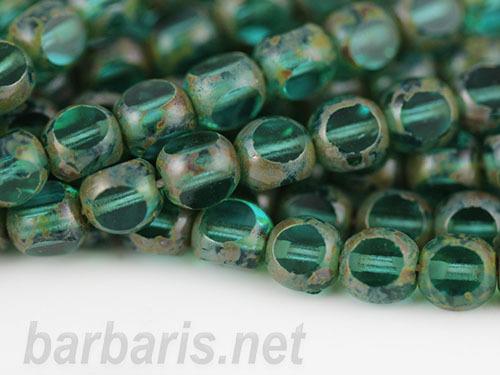 """Preciosa Бусины """"Зеленые"""" стекло (фото, вид 1)"""
