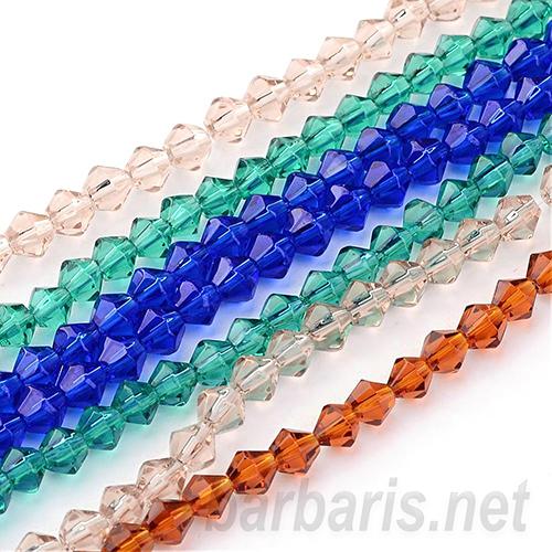 Граненные бусины стекло (фото, вид 1)
