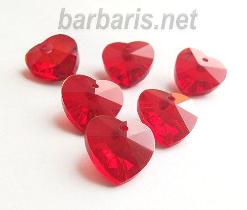 """Preciosa Граненные подвески """"Красное сердце"""" стекло (фото, вид 1)"""