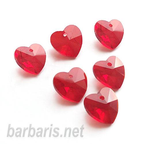 """Preciosa Граненные подвески """"Красное сердце"""" стекло (фото, вид 2)"""