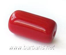 """Preciosa Бусины """"Красный цилиндр"""" стекло"""