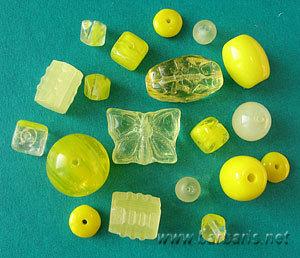 """Preciosa Набор бусин """"Желтый микс"""" стекло"""