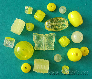 """Preciosa Набор бусин """"Желтый микс"""" стекло (фото)"""