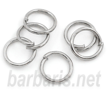 Кольцо для бус серебро