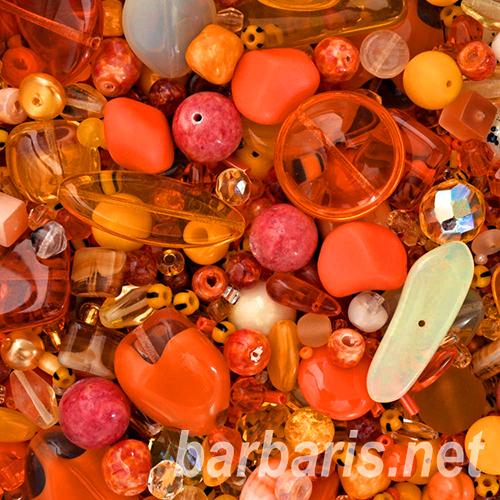 """Preciosa Набор бусин """"Апельсиновый микс"""" стекло"""