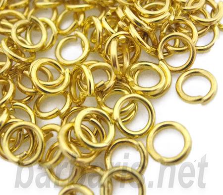 Кольцо для бус золото