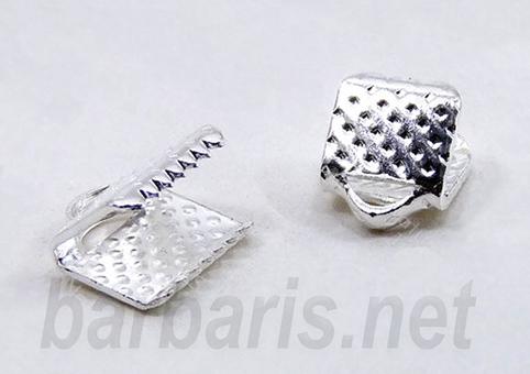 Зажим для ленты серебро (фото)