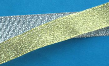 Тесьма металлизированная, 27 мм