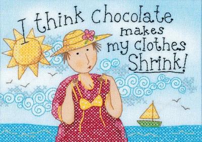"Dimensions ""Шоколад уменьшает мою одежду"" (Chocolate Shrinks My Clothes)"