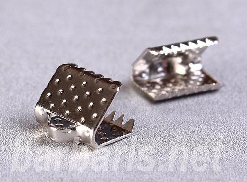 Зажим для ленты никель