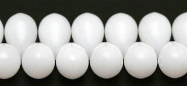 "Preciosa Бусины ""Белые капли"" стекло"