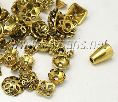 Розетки ассорти темное золото