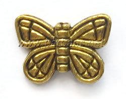 """Бусина металл золото """"Бабочка"""""""