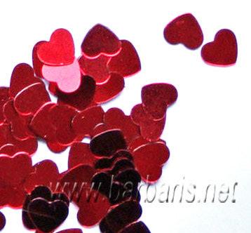 """Пайетки """"Красное сердце"""""""