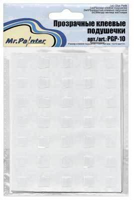 Mr.Painter Прозрачные клеевые подушечки, 10 мм