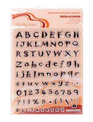 "Mr.Painter Набор штампов ""Алфавит латинский"""