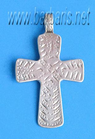 """Подвеска """"Крест"""" серебро (фото)"""