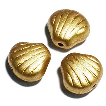 "Preciosa Бусины ""Золотые ракушки"" стекло (фото)"