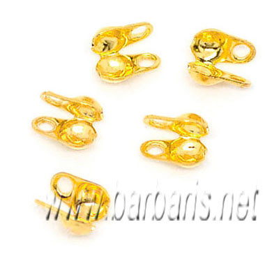 Зажим для узла (скуфейки) золото
