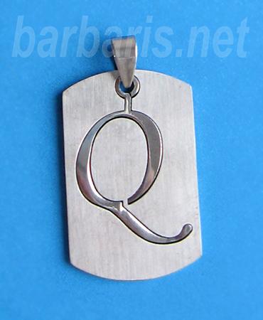 """Подвеска """"Буква Q"""" серебро (фото)"""